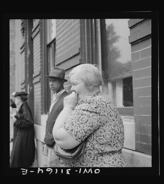 Baltimore, Maryland. Funeral of a merchant seaman. Mourning neighbors and friends