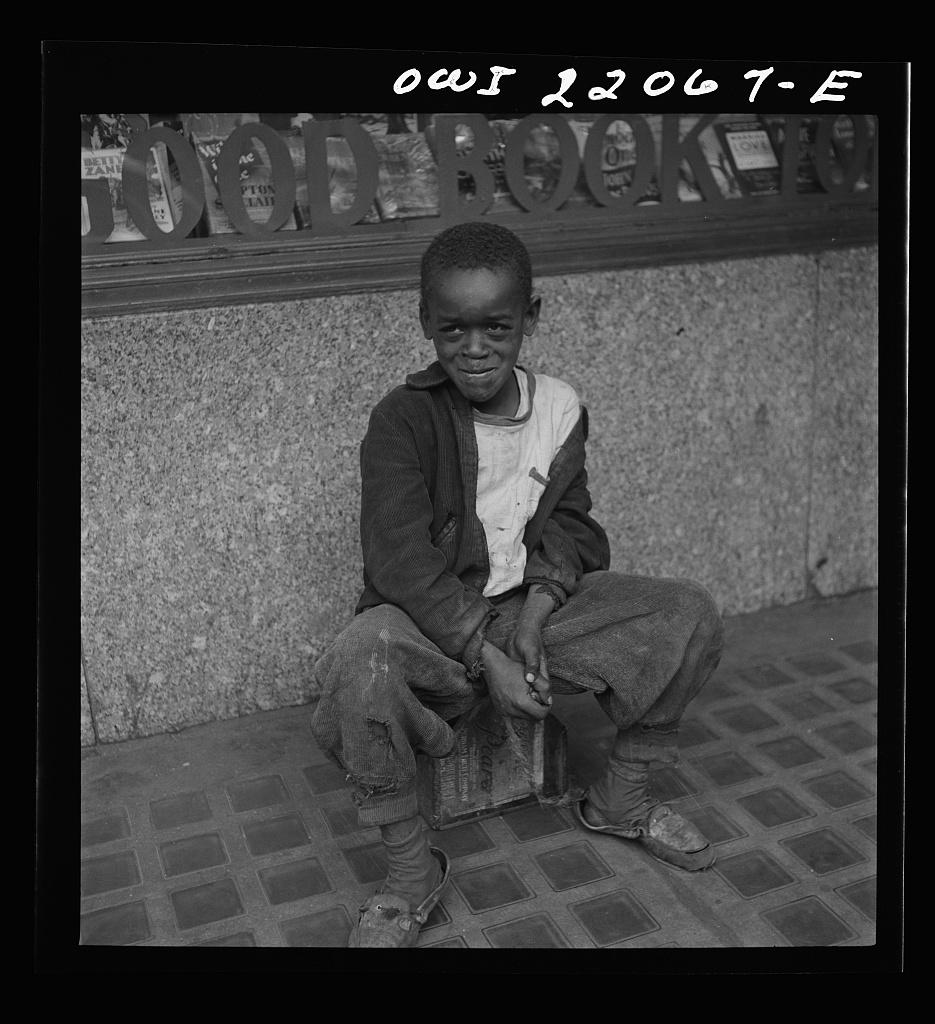 Baltimore, Maryland. Shoe shine boy