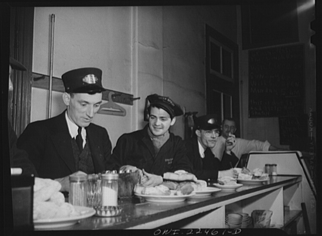 Baltimore, Maryland. Terminal lunch at the Park terminal, dispatching center of the Baltimore Transit Company