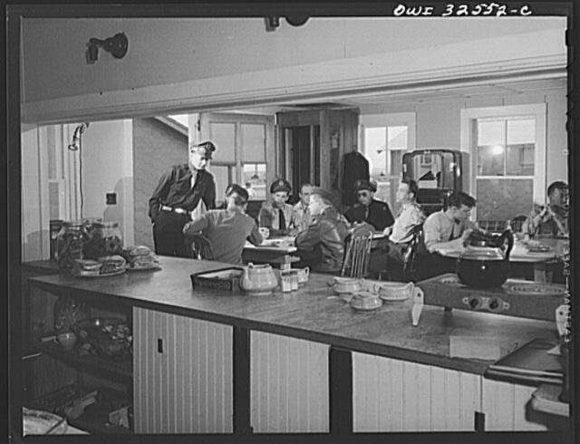 Bar Harbor, Maine. Civil Air Patrol base headquarters of coastal patrol no. 20. The base canteen