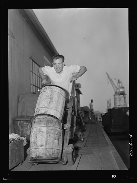 Baseball players in war production. Pitching in to stop the Axis short, shortstop Vernie Stephens, former Saint Louis Browns star, has been a warehouseman for California Ship Building Corporation since early last fall