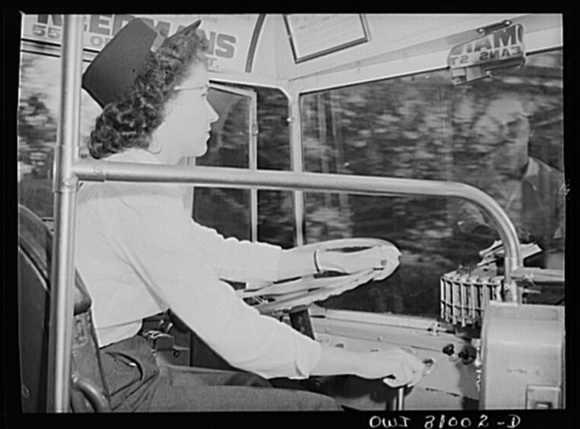 Beaumont, Texas. Helen McCabe, a bus driver for the city transit company