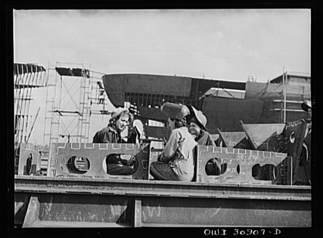 Beaumont, Texas. Women welders and welding inspector at the Pennsylvania shipyards