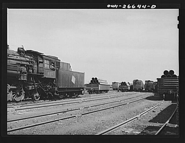 Bensenville, Illinois. Switching operations in Bensenville yard of the Chicago, Milwaukee, Saint Paul and Pacific Railroad