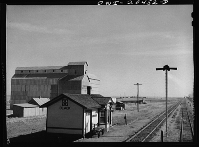Black, Texas. Atchison, Topeka and Santa Fe Railroad to Clovis, New Mexico