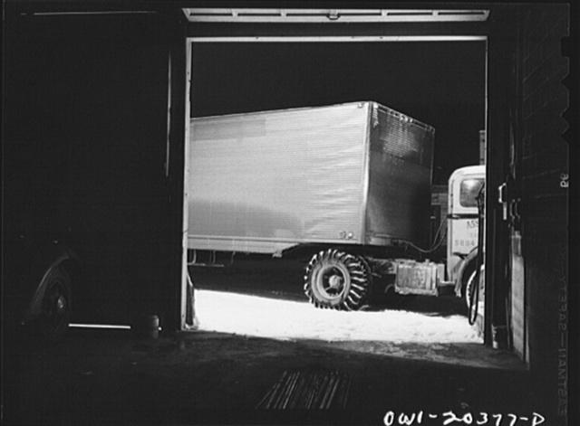 Boone, North Carolina. Jim Fletcher's truck stopping for gas on his overnight run, between Bristol, Tennessee and Winston-Salem, North Carolina