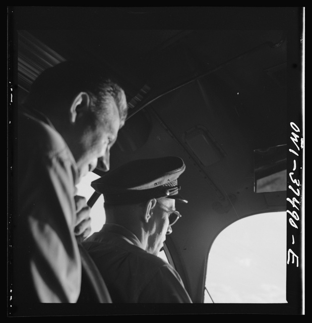 Bus driver and passenger enroute from Columbus to Cincinnati, Ohio