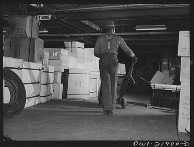 Charlotte, North Carolina. Loading platform of the Associated Transport Company