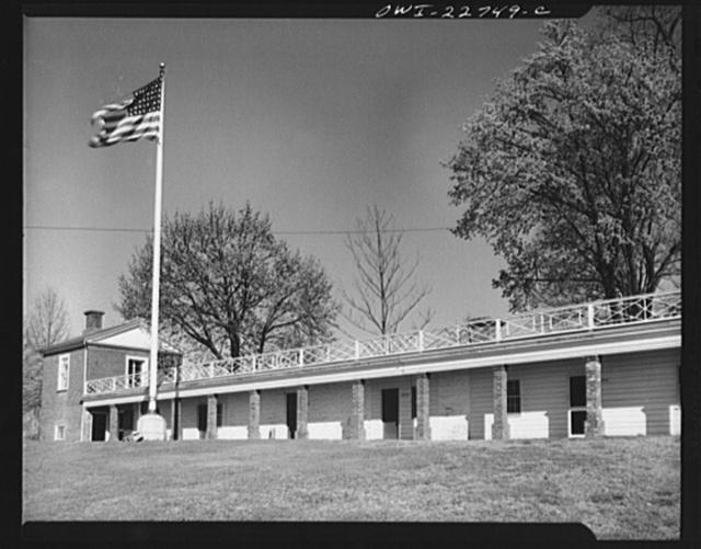 Charlottesville, Virginia. Servant quarters of Monticello, home of Thomas Jefferson