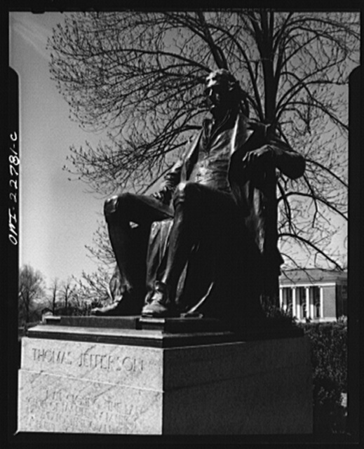 Charlottesville, Virginia. Thomas Jefferson, founder of the University of Virginia