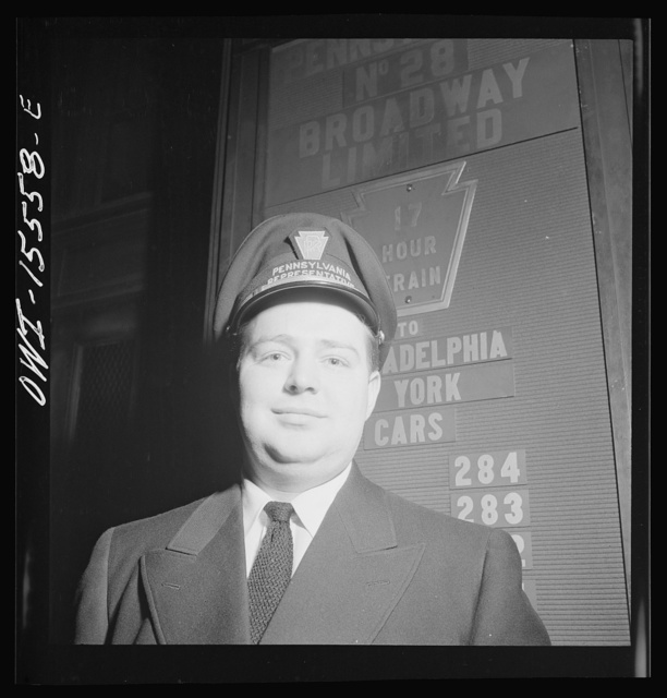 Chicago, Illinois. Mr. Hal Duello, Assistant Passenger Agent, for the Pennsylvania Railroad at the Union Station
