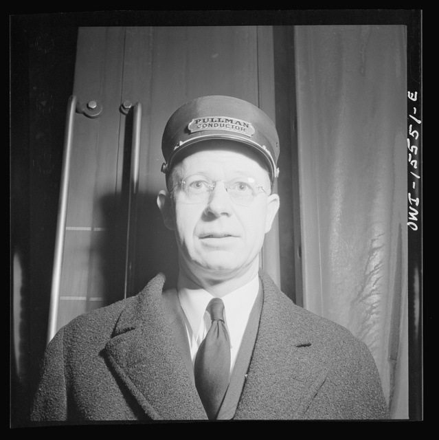 Chicago, Illinois. Pullman conductor at the Union Station