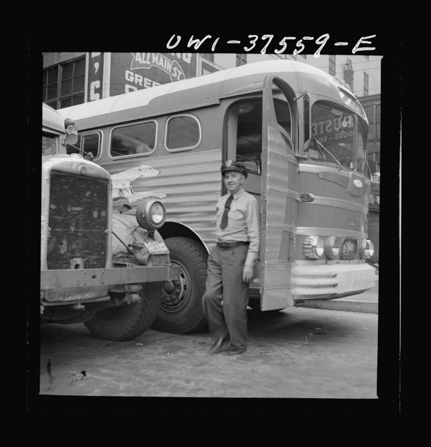 Cincinnati, Ohio. Bernard Cochran, a Greyhound bus driver