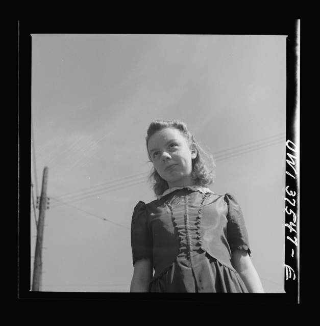 Cincinnati, Ohio. Irma Jean Cochran, eleven year-old daughter of Bernard Cochran, who is a Greyhound bus driver