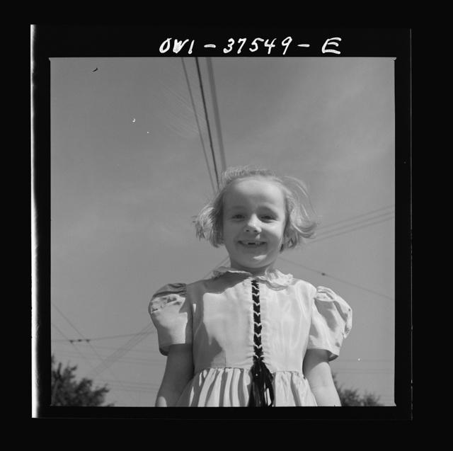 Cincinnati, Ohio. Sue Anne Cochran, the seven year-old daughter of Bernard Cochran who is a Greyhound bus driver
