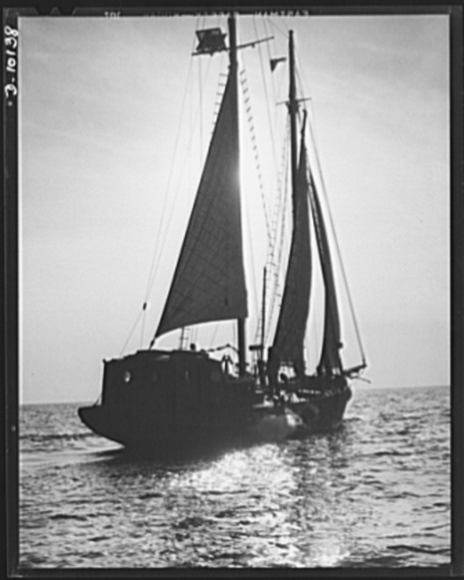 Coast Guard Auxiliary. Guardians of inland waters. A schooner of the Coast Guard, patrolling waters off Boston. Small craft made available to the government by members of the Coast Guard Auxiliary are being used to supplement the work of the regular fleets