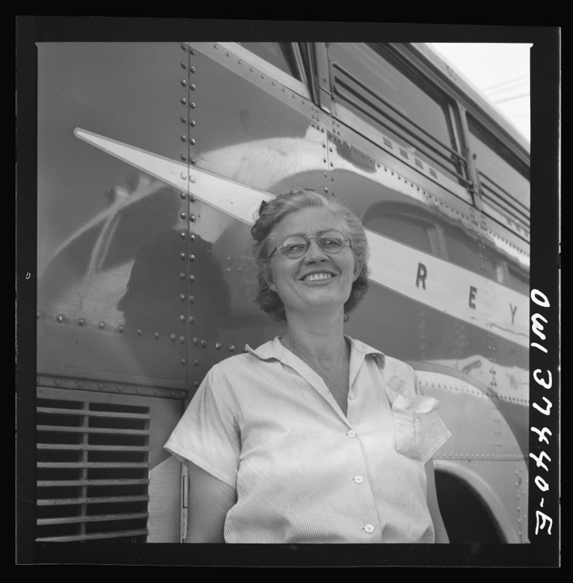 Columbus, Ohio. A cleaning woman employed at the Greyhound garage