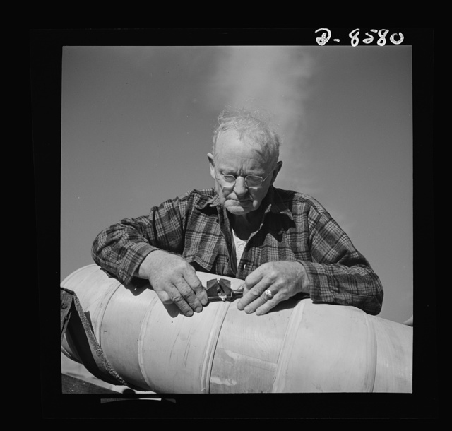 Conversion. Rowing shells to life rafts. Plywood is made into life rafts instead of rowing shells since the plant employing this veteran craftsman converted to war production. The worker has converted his skills to war work, and is shown smoothing down a life raft for navy use