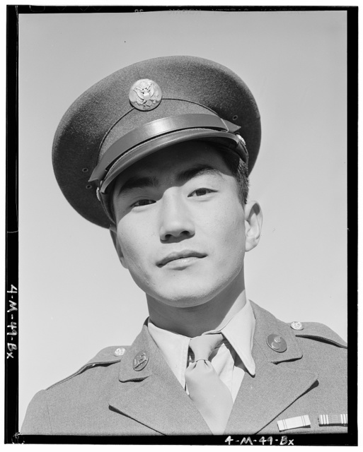 Corporal Jimmie Shohara has two ribbons: Good Behavior pre-Pearl Harbor, Rifle and Pistol Citations, 2 of 2, Manzanar Relocation Center, California
