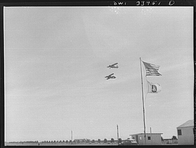 Corpus Christi, Texas. Planes of the Civil Air Patrol flying out to the sea for a four-hour stretch of coastal patrol duty