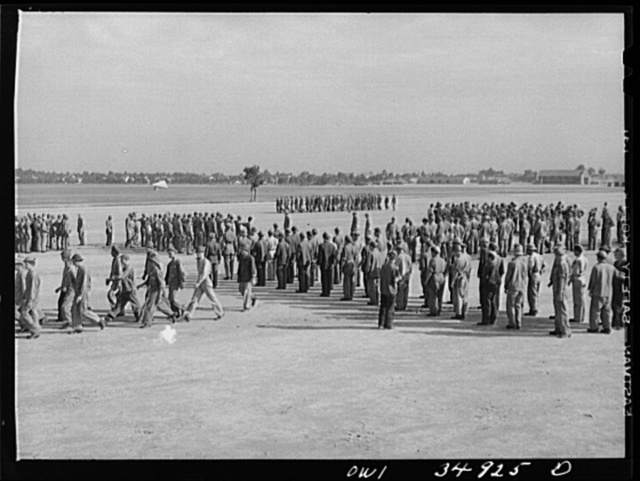 Daniel Field, Georgia. Air Service Command. Learning close order drill on the parade ground