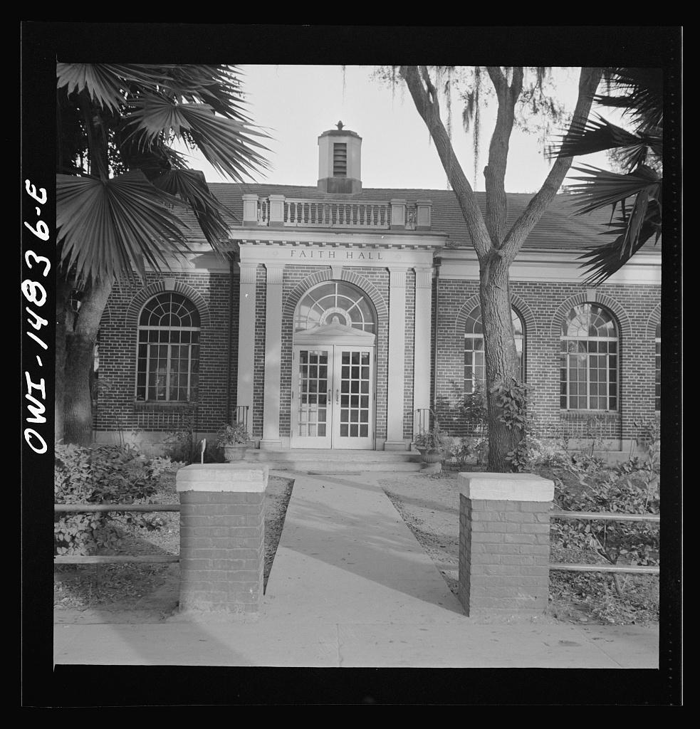 Daytona Beach, Florida. Bethune-Cookman College. Faith Hall