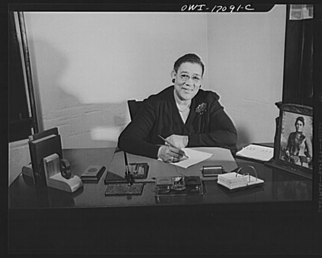 Daytona Beach, Florida. Bethune-Cookman College. Mrs. Gertrude Brown, publicity director