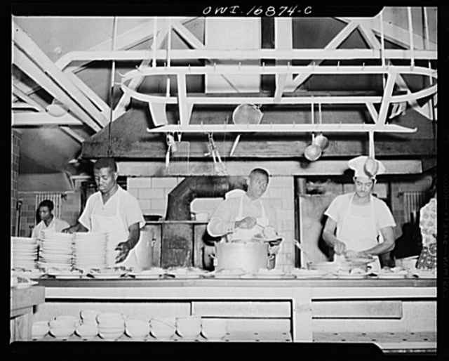 Daytona Beach, Florida. Bethune-Cookman College. Students earning tuition by working in the kitchen during meal time
