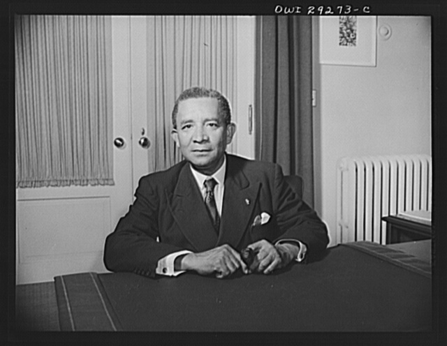 Edwin Barclay, President of Liberia. His Excellency, Edwin Barclay, President of the Republic of Liberia, is shown at a desk in historic Blair House, Washington, D.C. following a press conference on May 27, 1943.