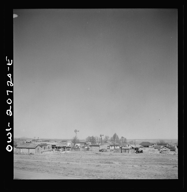 Encino, New Mexico. Passing through the town on the Atchison, Topeka and Santa Fe Railroad between Vaughn and Belen, New Mexico