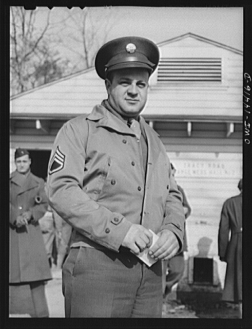 Fort Belvoir, Virginia. Mess Sergeant Charles Dolo