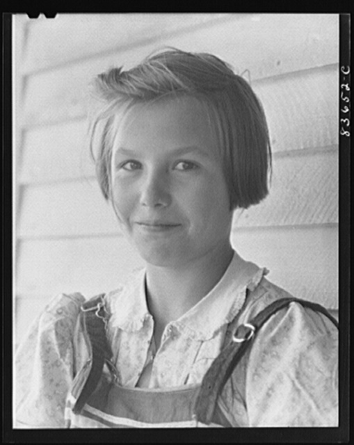 [Fort Kent, Maine (vicinity). Marianne, daughter of Albert [i.e. Leonard] Gagnon, Acadian farmer]