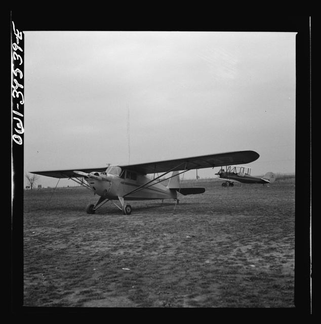 Frederick, Maryland. The plane in which Walter Spangenberg, a student at Woodrow Wilson High School, made his first solo flight at Stevens Airport