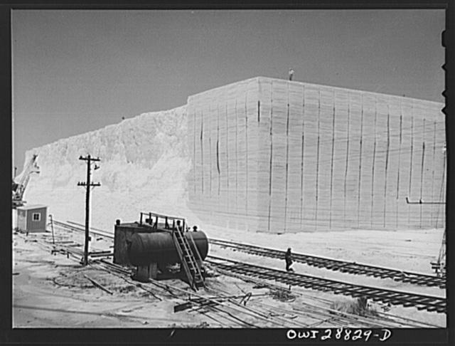 Freeport Sulphur Company. Hoskins Mound, Texas. Sulphur vat before blasting