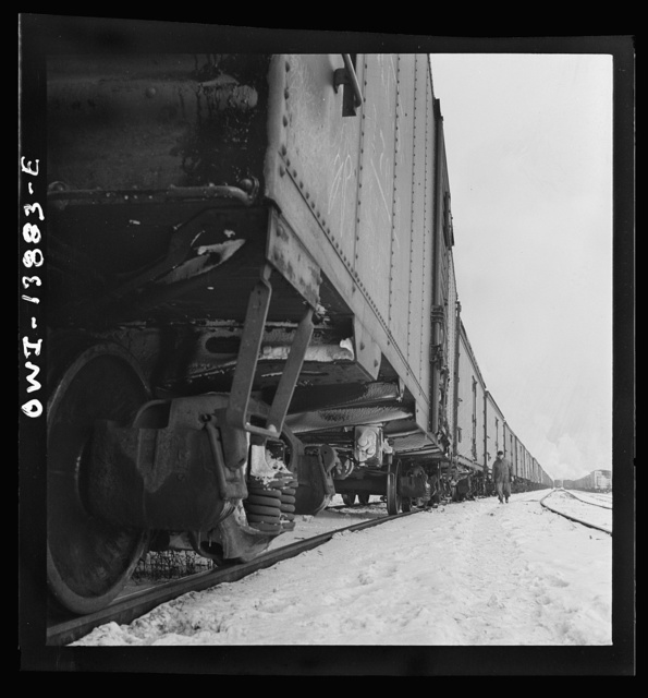 Freight operations on the Indiana Harbor Belt railroad between Chicago, Illinois and Hammond, Indiana. Train inspection