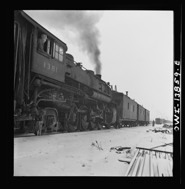 """Freight operations on the Indiana Harbor Belt railroad between Chicago, Illinois and Hammond, Indiana. The crew is going to the yard """"light,"""" so the caboose is picked up and they are ready to go"""