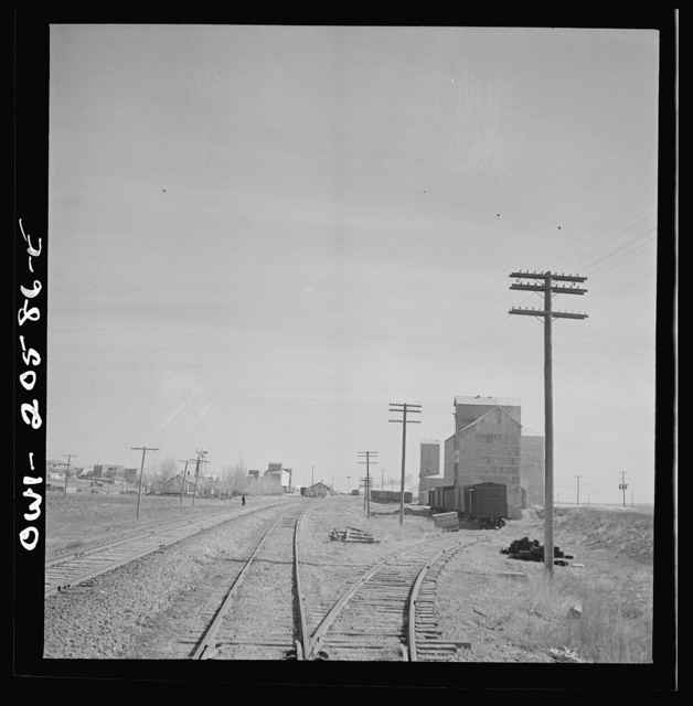 Friona, Texas. Going through the town on the Atchison, Topeka, and Santa Fe Railroad between Amarillo, Texas and Clovis, New Mexico