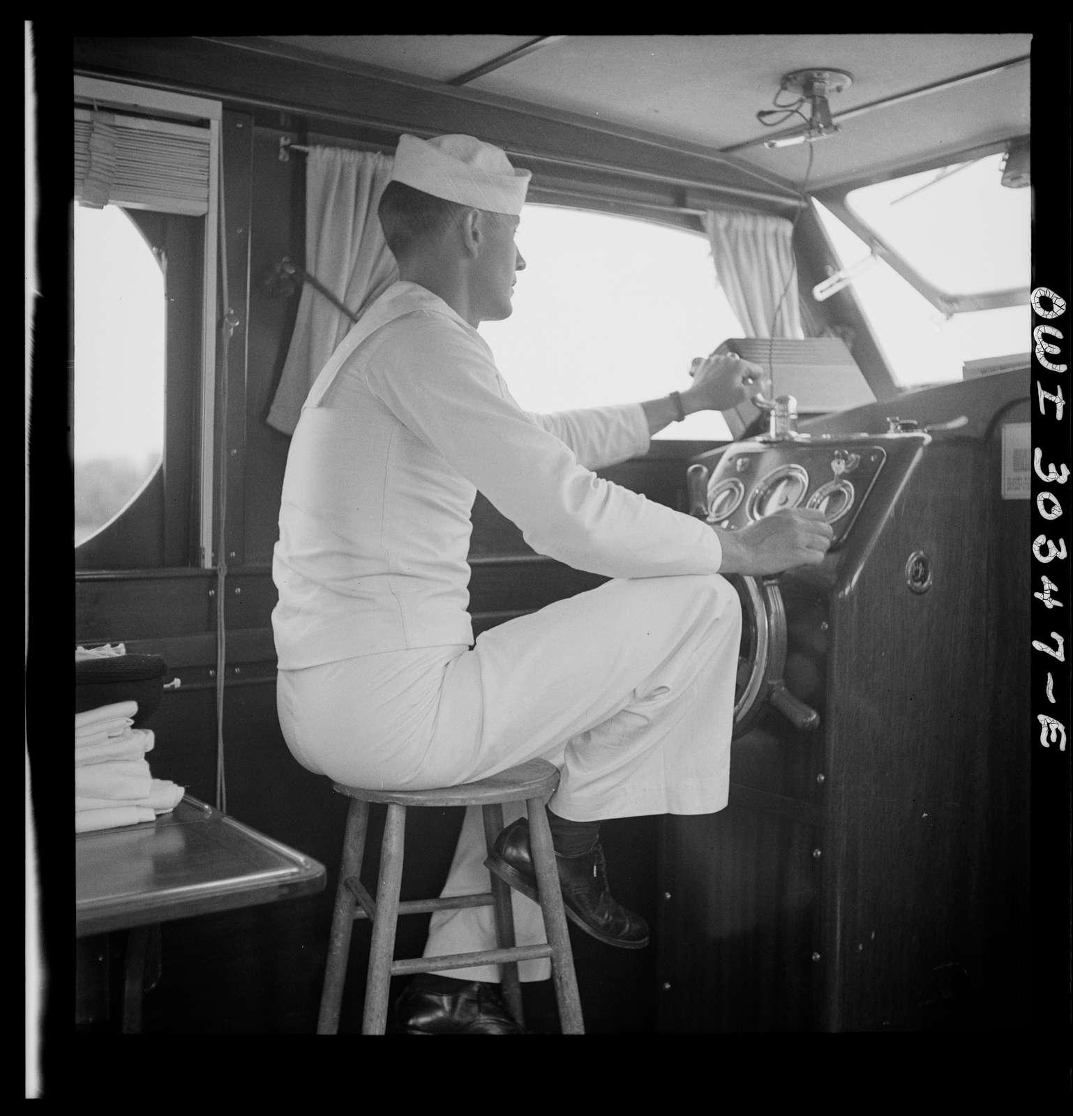 Gallipolis, Ohio. Pilot of Coast Guard boat