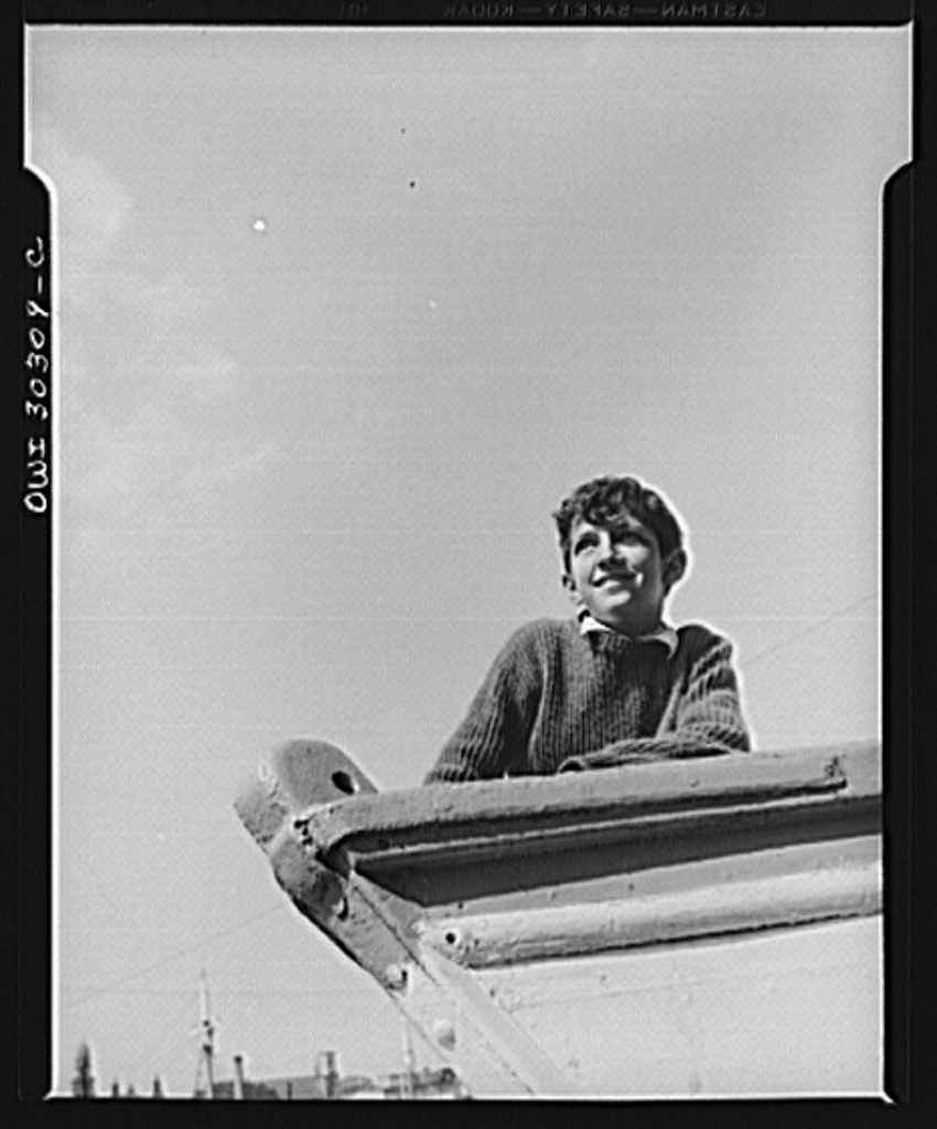 Gloucester, Massachusetts. Anthony Parisi, an Italian fisherman's son