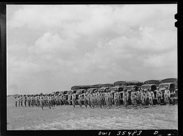 Greenville, South Carolina. Air Service Command. The 1953rd quartermaster truck company of the 25th service group