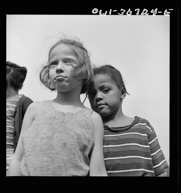 Haverstraw, New York. Interracial activities at Camp Christmas Seals, where children are aided by the Methodist Camp Service. Camp buddies