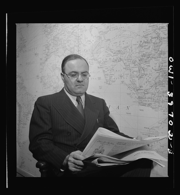 Hermann Spitzer, consultant on psychological warfare. Far East Section, Overseas Branch, Office of War Information