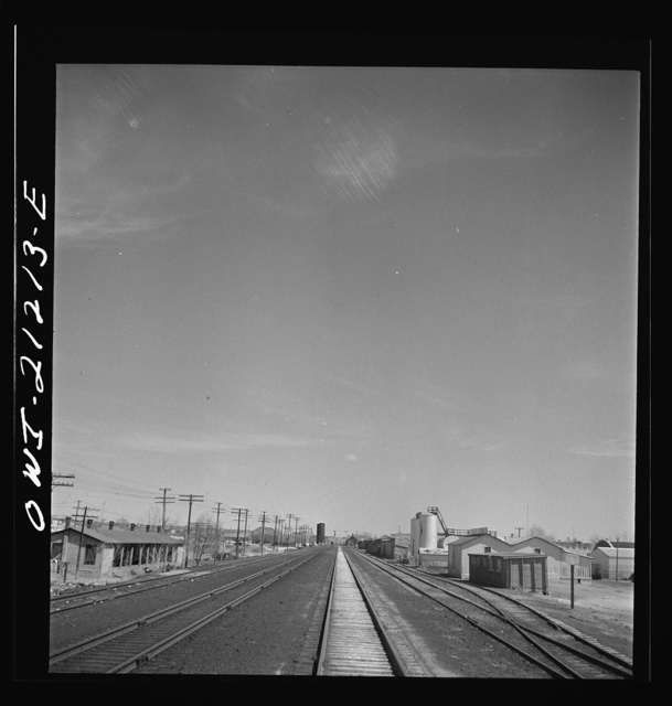 Holbrook, Arizona. Going through the town on the Atchison, Topeka and Santa Fe Railroad between Gallup, New Mexico and Winslow, Arizona
