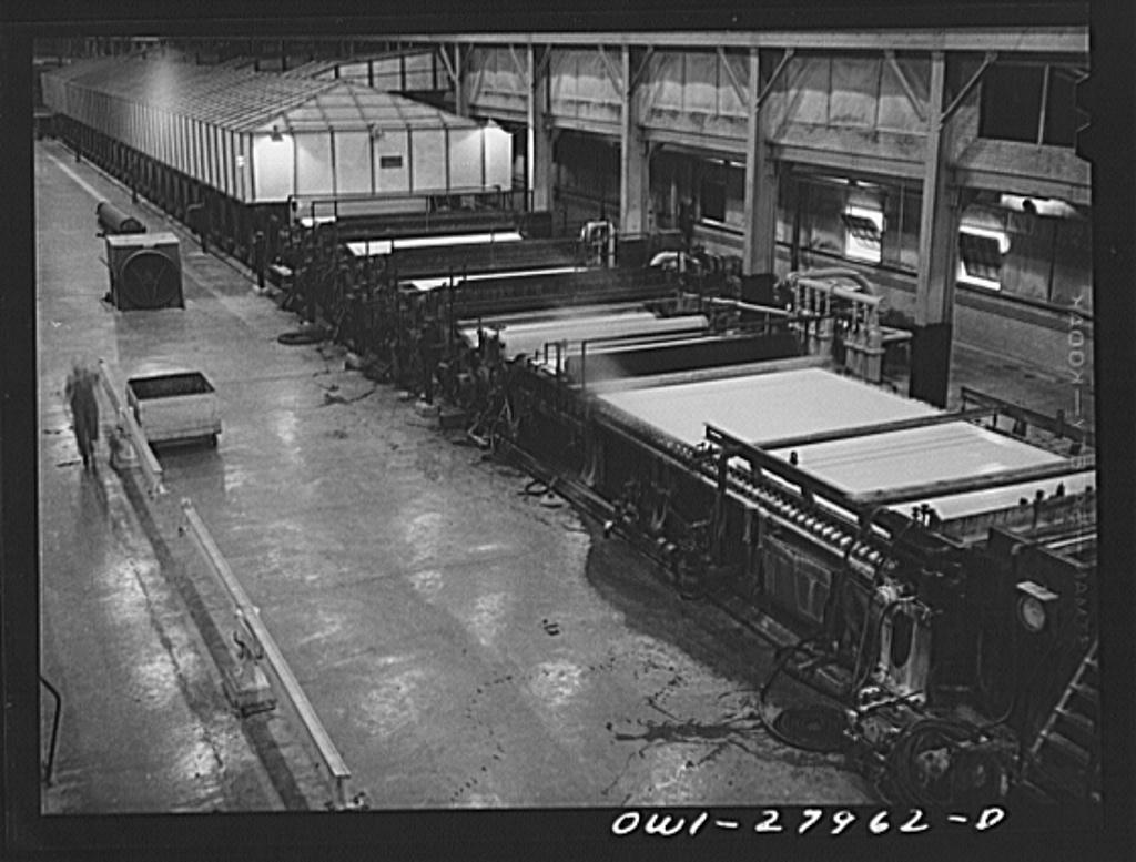 Houston, Texas  Paper machine at the Champion paper company
