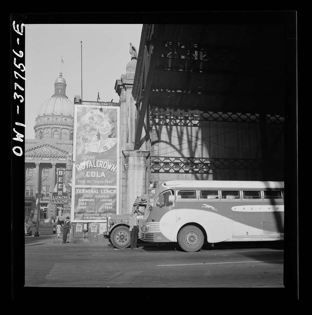 Indianapolis, Indiana. A Greyhound bus station