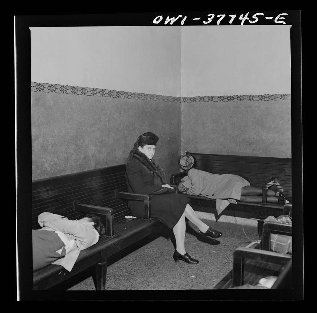 Indianapolis, Indiana. The waiting room of the Greyhound bus terminal at 5:30 a.m