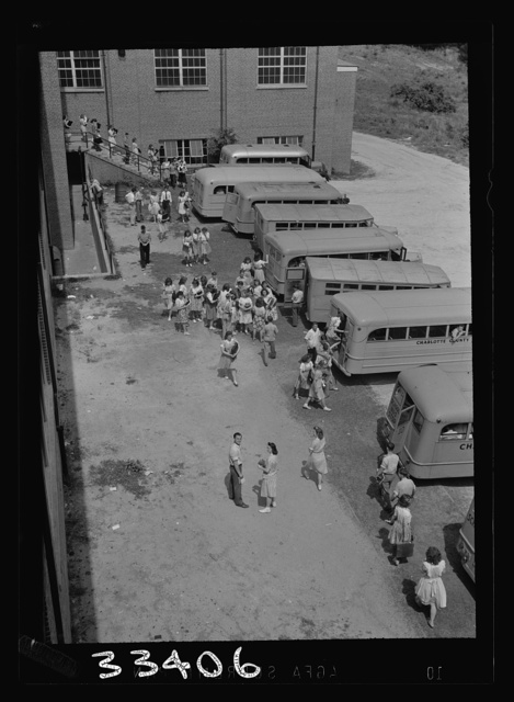 Keysville, Virginia. Randolph Henry High School. Buses bring students from miles around as the school covers an area of 496 square miles. Some children come as far as thirty miles to school in one of the seventeen buses, some of whcih are driven by seniors