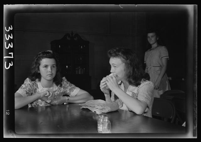 Keysville, Virginia. Randolph Henry High School. Eating lunch in cafeteria