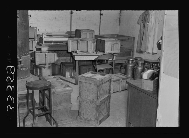 Keysville, Virginia. Randolph Henry High School. No bakery will deliver fresh bread to the school. A central bakery in the Board of Education building furnishes seventy-five loaves a day which are carried to school packed in boxes and slipped under the seats of the school buses