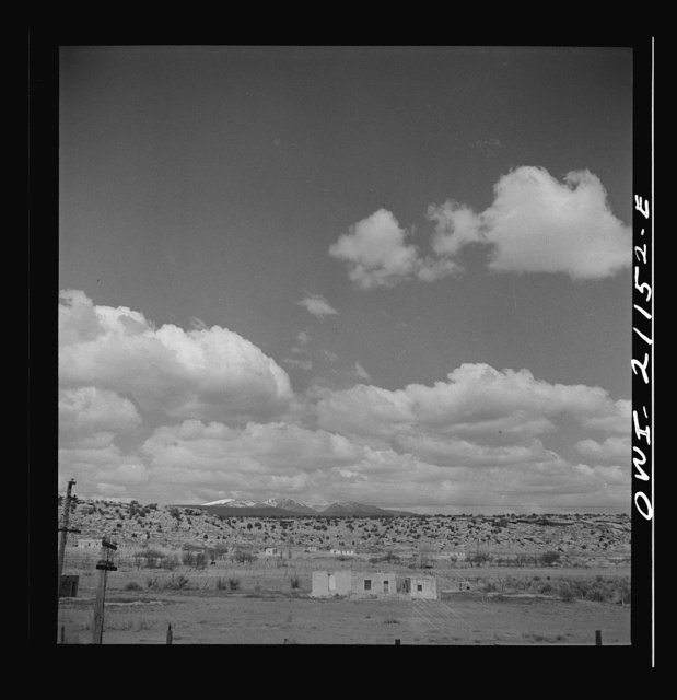 Laguna (vicinity), New Mexico. An Indian reservation along the Atchison, Topeka and Santa Fe Railroad between Belen and Gallup, New Mexico. Mount Taylor is in the background